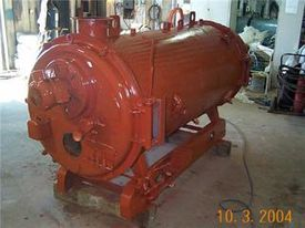 boiler, reddish orange